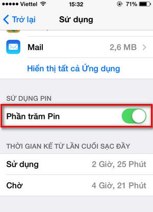 Hướng dẫn cách hiển thị phần trăm pin trên thiết bị iPhone, iPad