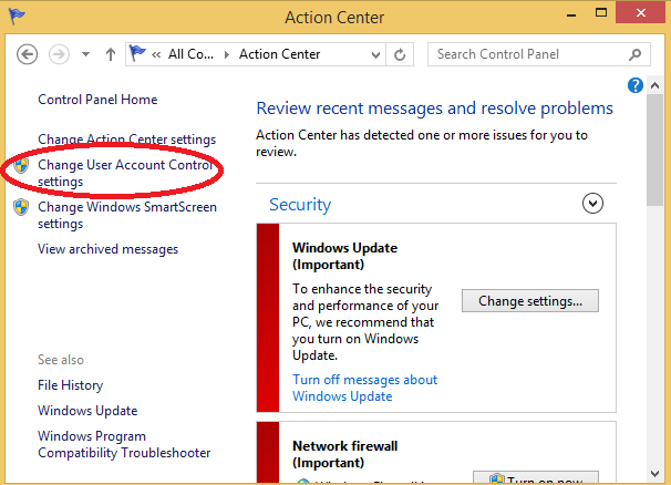tat User Account Control tren windows 3