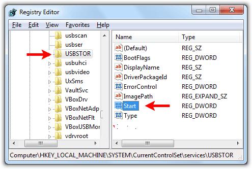 Hướng dẫn cách khoá kết nối cổng USB trên Windows 7/ 8/ 8.1 1