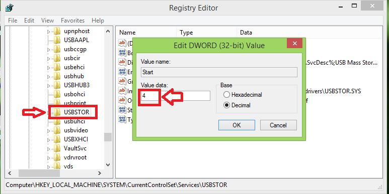 Hướng dẫn cách khoá kết nối cổng USB trên Windows 7/ 8/ 8.1 2