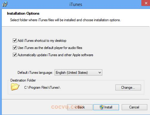 Cach cai dat itunes cho windows 1