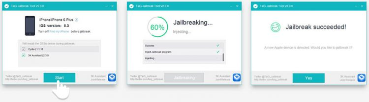 jailbreak iOS 8.1.3, 8.2, 8.3 voi TaiG Windows 2