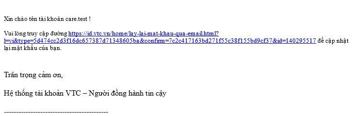 Doi mat khau vtc id qua email dang ky 2
