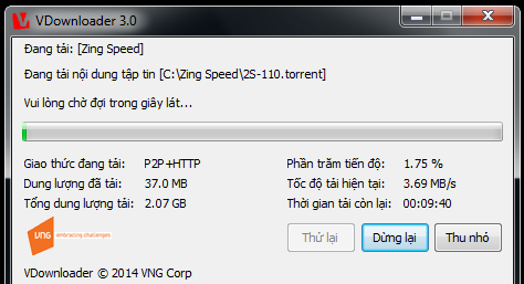 cai dat game Zing Speed 2