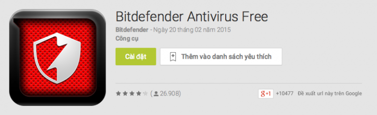 ung dung diet virus tot nhat cho Android 5