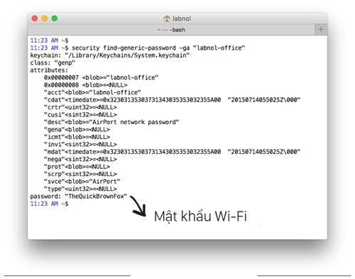 Cach lay lai mat khau wifi tren Macbook 1