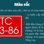 Biển số xe trong Quân đội nhân dân Việt Nam mới nhất 2017