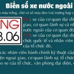 Những mẫu biển số xe ngoại giao, nước ngoài tại Việt Nam