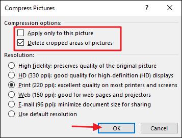 Hướng dẫn cách làm giảm kích thước tài liệu Word Office chứa hình ảnh 3