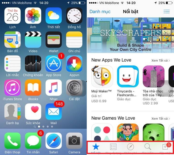 dong ung dung appstore