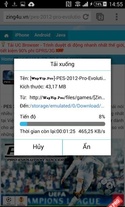 cach cai dat game cho Android file Apk co full data obb 3