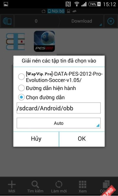 cach cai dat game cho Android file Apk co full data obb 5