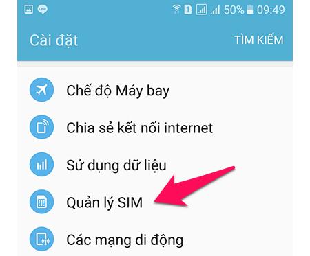 hướng dẫn cách bật mạng (sóng) 4G trên điện thoại Samsung