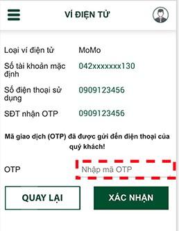 Cách liên kết ví MoMo với ngân hàng Vietcombank 5