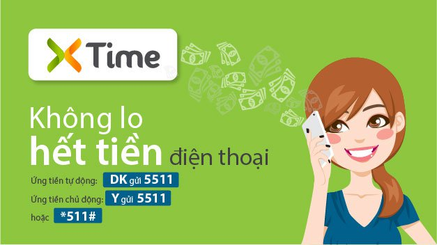 Ứng tiền Viettel thông qua dịch vụ XTime