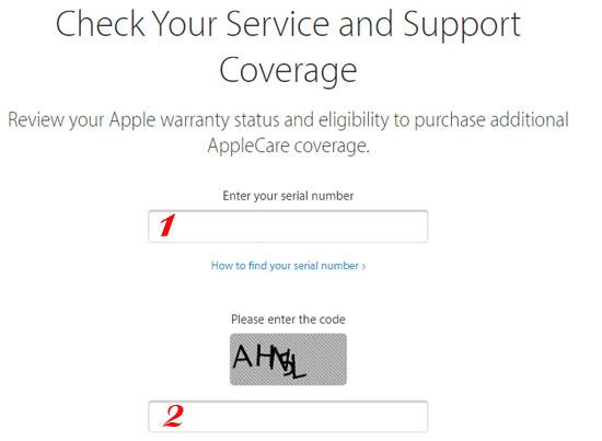 kiểm tra thời gian bảo hành chính hãng iPhone 3