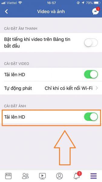 cách đăng ảnh chất lượng HD trên facebook cho iOS 4
