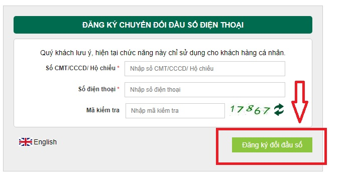 Chuyển đổi số điện thoại từ 11 số sang 10 số đối với ngân hàng Vietcombank