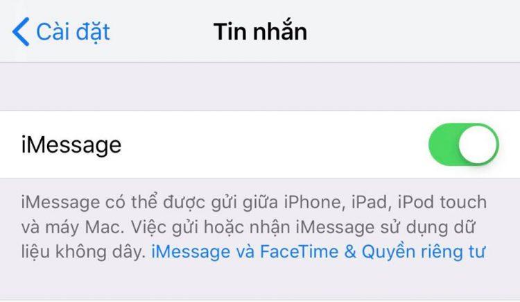 Cách kích hoạt lại iMessage và FaceTime từ sim 11 số thành sim 10 số 2