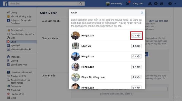 Hướng dẫn chặn facebook bạn bè hoặc một người lạ 3