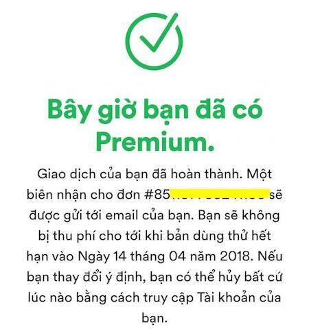Cách tạo tài khoản Spotify Premium bằng thẻ mastercard ảo 4
